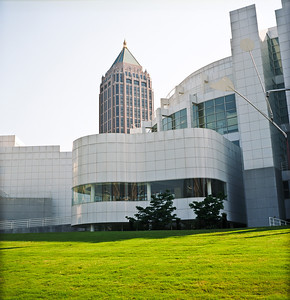 One Atlantic Center and High Museum, Midtown Atlanta, Georgia.