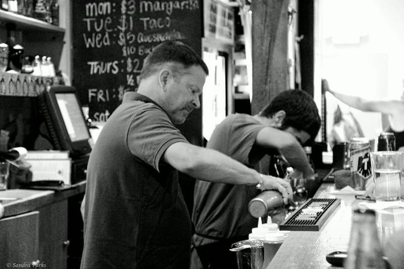 8-22-14: Bartenders art work, Rick's Cantina