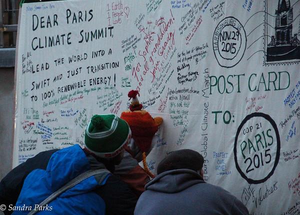 11-29-15: signing the Postcard to Paris