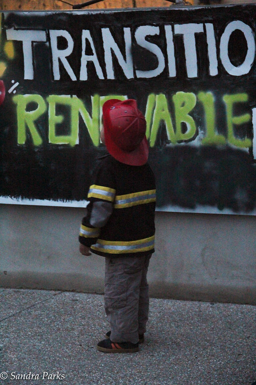 A young 'un at the climate change rally.