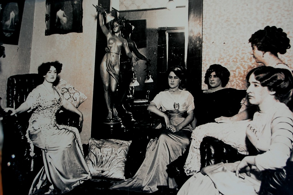 Photo of a photo of prostitutes in 1800's Seattle