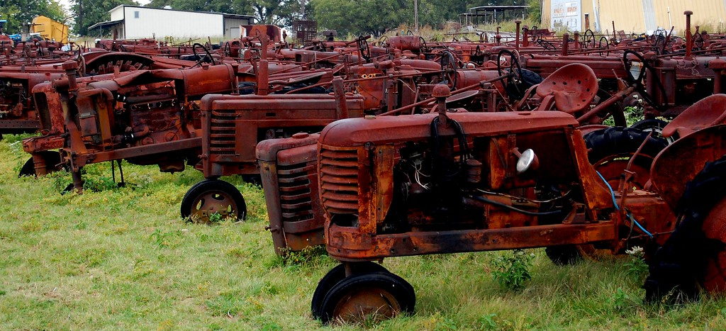 Tractors, rusty tractors, and more tractors.  There were hundreds of them in this field.
