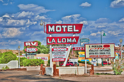 How could I NOT include this in my signs gallery?  Anyone ever see so many signs in one quick shot from (I think) Raton, New Mexico?  Gotta love this one though, if you like signs.  Enjoy!  And......... Have a great day! (2012)