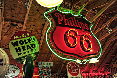 Route 66 type signs from A Classical Gas museum in New Mexico