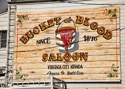 Taken January, 2013 in Virginia City, Nevada.  The Bucket of Blood Saloon is a well known landmark in the little city.  For another shot of the saloon, and historical information, click here:  http://lgood.smugmug.com/Other/Daily-Photos/12484643_NvHx9n#!i=2389232098&k=d76sNVd