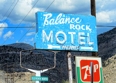Balance Rock - Ghostly Neon Sign