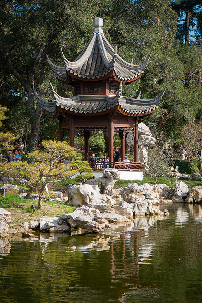 Pavilion in the Chinese Garden of the Huntington Library and Botanical Gardens