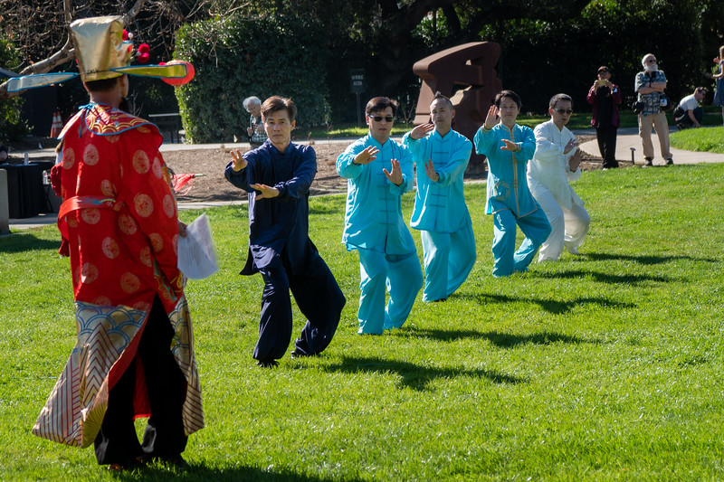 Tai chi performance at the Huntington Botanical Gardens 2020 New Years Festival