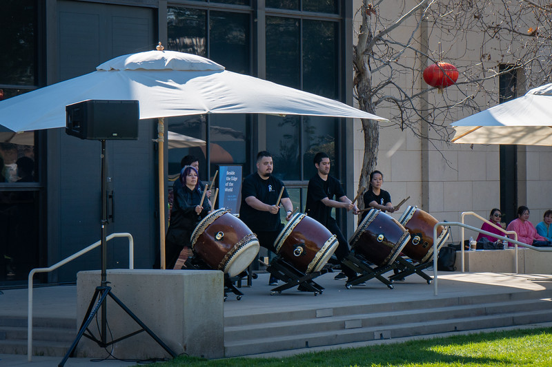 Taiko drummers perform as part of the Chinese New Year Festival