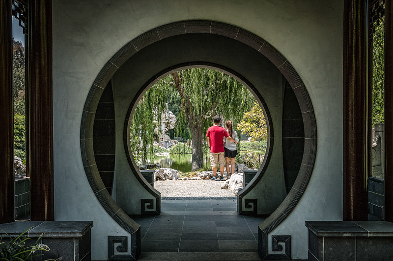 Quiet couple in the Chinese Garden