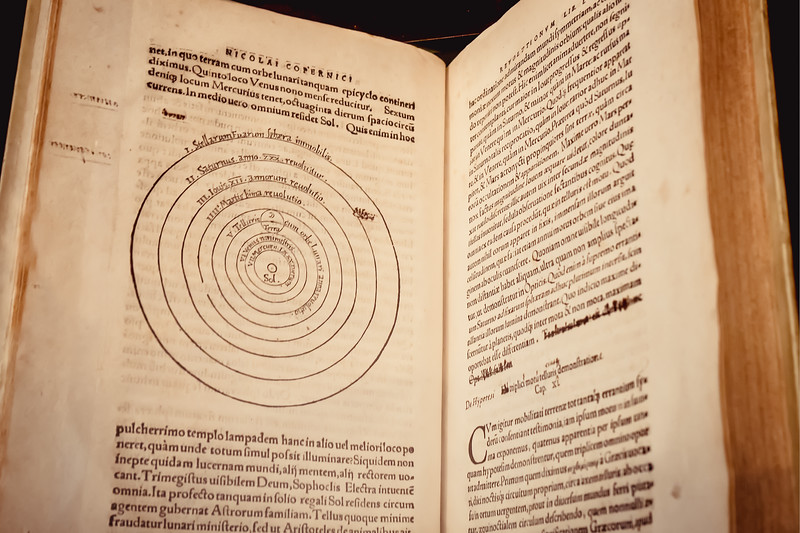 On the revolution of heavenly bodies, published in 1543 by Nicolas Copernicus