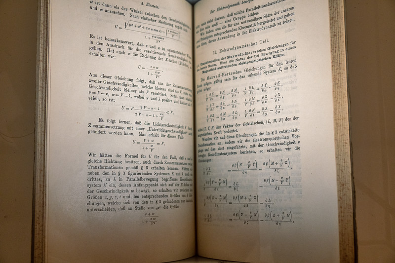 Einstein's 1905 paper which introduced his theory of special relativity