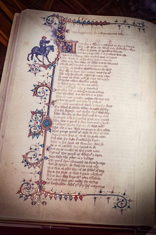 The Ellesmere Chaucer on display at the Huntington Library