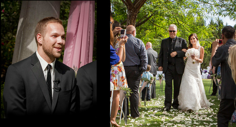 Having two photographers helps capture both the bride and the groom's first reactions....