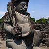 PRAMBANAN. STATUE OF A GUARD. YOGYAKARTA. JAVA.