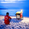 KEDONGANAN BEACH. CORN SELLER. BLUE HOUR. BALI. INDONESIA. [2]