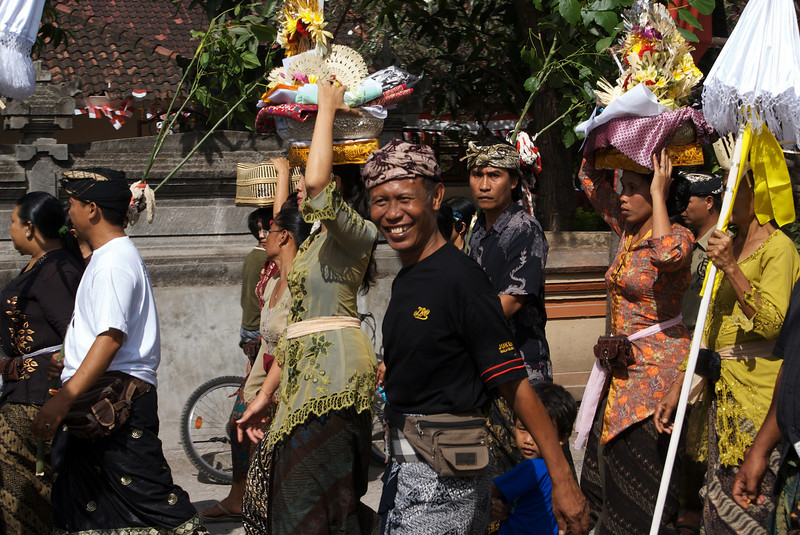 MARCH. FUNERAL CEREMONY. KEDONGANAN. BALI. INDONESIA.