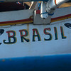 SIGN OF THE FISHING BOAT. BRASIL. BEACH OF KEDONGANAN. JIMBARAN BAY. BALI. INDONESIA.