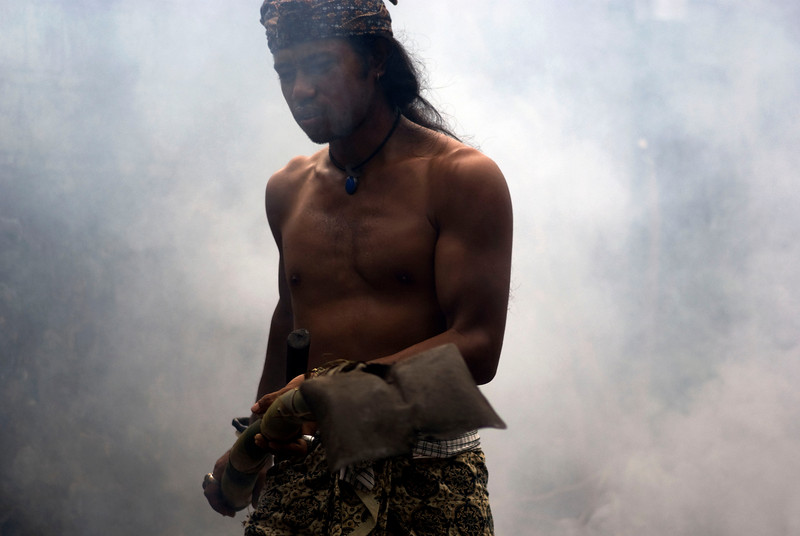 BALINESE MAN. BALI. INDONESIA.