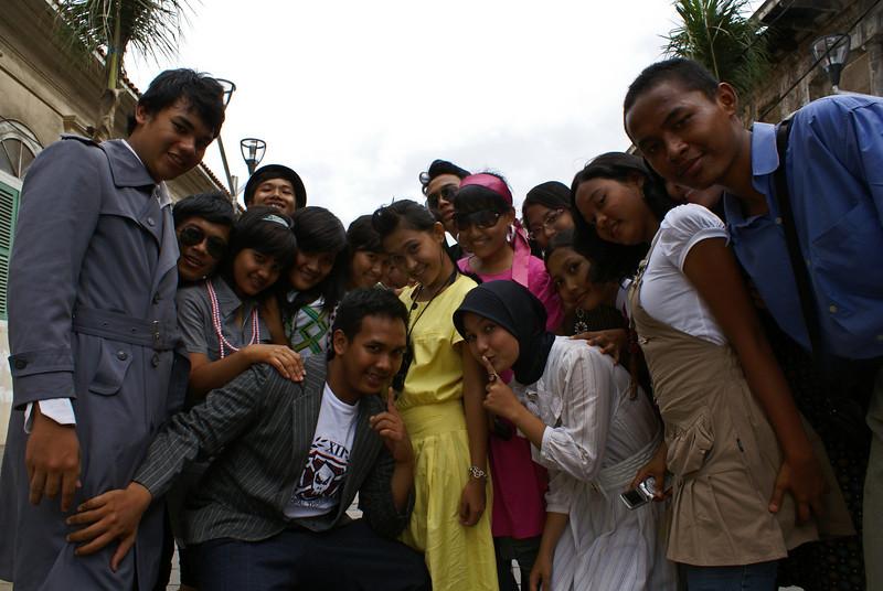 JAKARTA TEENAGERS. KOTA. OLD TOWN. JAVA. INDONESIA.