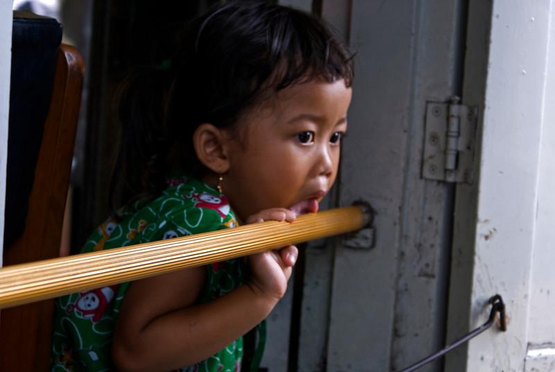 YOGYAKARTA. LITTLE GIRL AT THE MALIOBORO. JAVA.