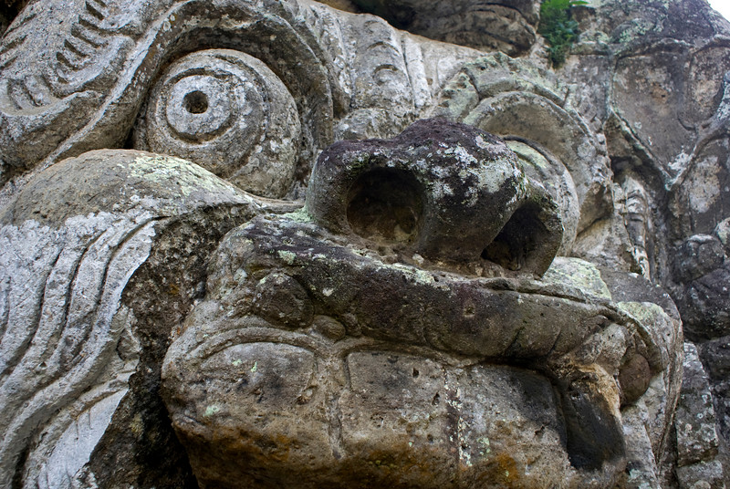 FACE OF THE ENTRANCE OF THE ELEPHANT CAVE. BALI. INDONESIA.