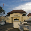 YOGYAKARTA. JAVA. ENTRANCE OF THE VREDEBURG FORTRESS.