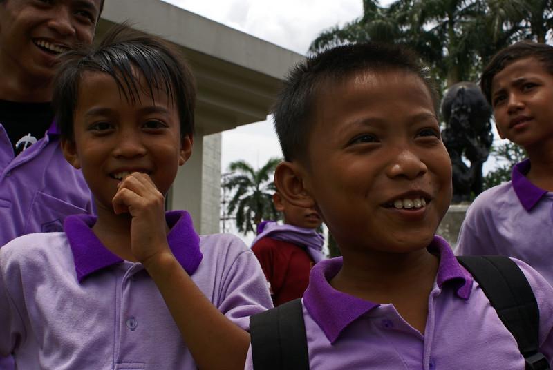 JAKARTA. TAMAN MINI. INDONESIAN SCHOOL CHILDREN.