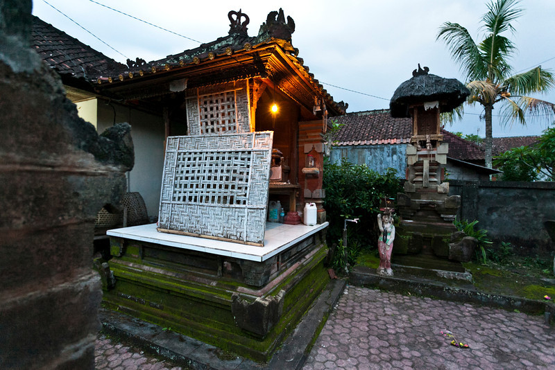 BALI. BALINESE HOUSE. INDONESIA.