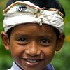 BALINESE BOY WITH UDANG. BALI. INDONESIA.