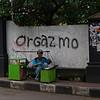 ORGAZMO (ORGASM).  STREET SELLER. MALANG. JAVA.
