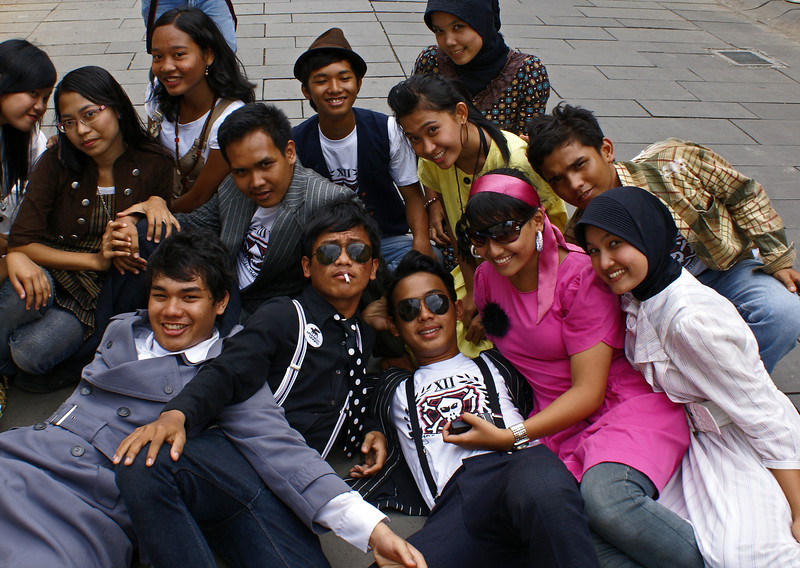 TEENAGERS. KOTA. OLD TOWN. JAKARTA. JAVA.