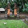BALI. CENTRAL BALI. OLD FAMILY HINDU TEMPLE.
