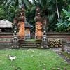 BALI. CENTRAL BALI. OLD FAMILY HINDU TEMPLE.