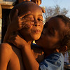 TWO LITTLE BROTHERS. SUNSET. LABUHAN BAJO. FLORES. NUSA TENGGARA (A.K.A. LESSER SUNDA ISLANDS). INDONESIA.