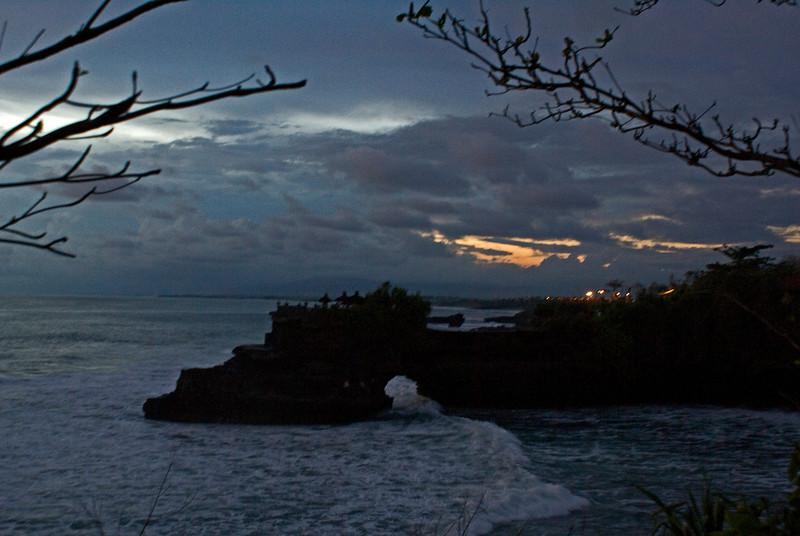 SUNSET AT TANAH LOT. BALI. INDONESIA.