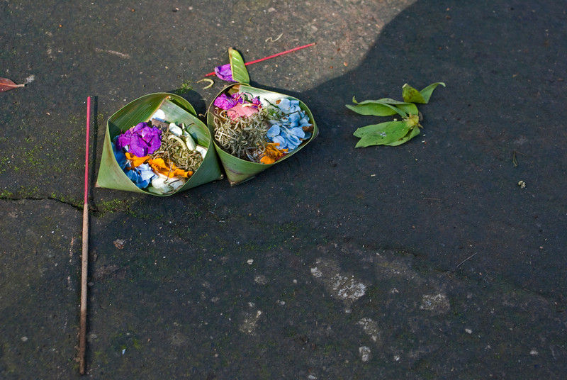 OFFERINGS. BALI. INDONESIA.