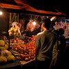 FRUITS AT THE NIGHT MARKET. JAKARTA.