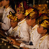 BALI. KENDONGANAN. LOCAL TRADITIONAL CEREMONY WITH BALINESE DANCES AND GAMELAN MUSIC.
