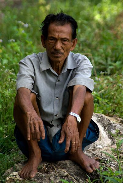 OLD MAN. TANA TORAJA. SULAWESI. INDONESIA.
