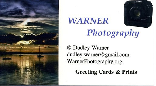 WARNER Photography Business Card
