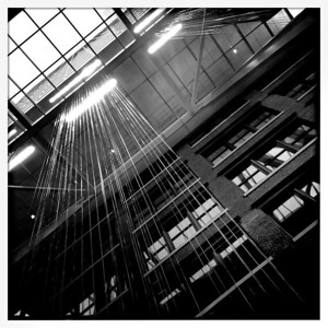 Atlantic Wharf atrium ceiling. Boston, MA