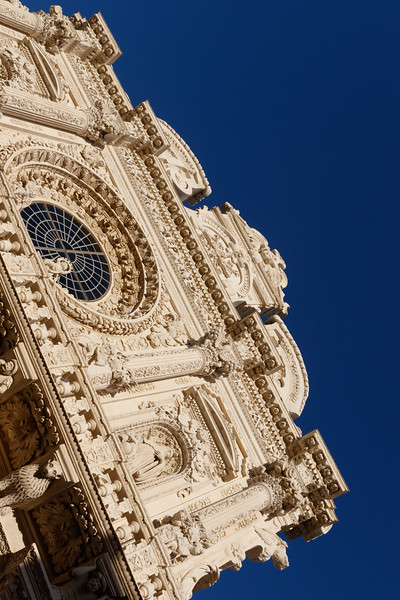 Exterior of the Church of the Holy Cross in Lecce, Apulia, Italy - Europe