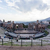 SICILY. TAORMINA. TEATRO GRECO. GREEK THEATER.