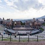 SICILY. TAORMINA. TEATRO GRECO. GREEK THEATER.