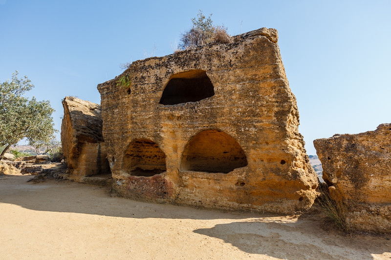 Early Medieval Necropolis at the Valley of Temples in Agrigento, Sicily, Italy