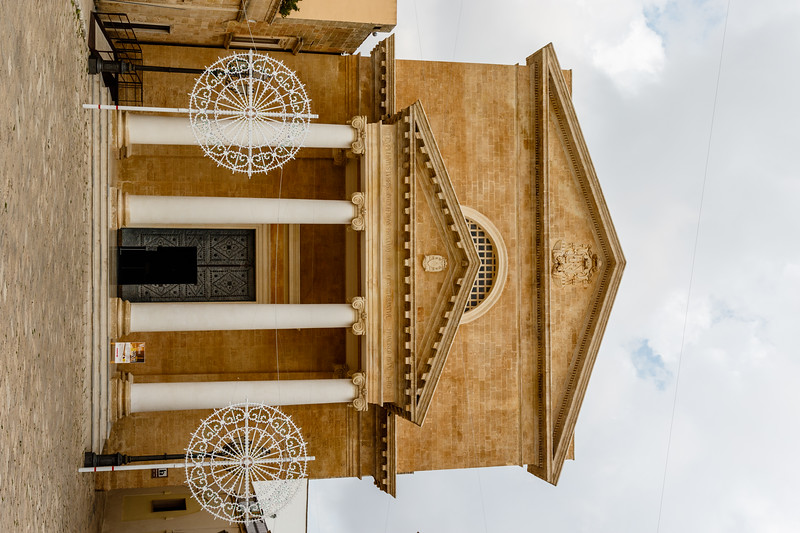 Exterior of the Ugento cathedral in Ugento, Salento, Apulia, Italy, Europe