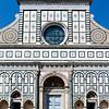 Facade of the Santa Maria Novella, a Roman Catholic church in Florence, Italy, Europe