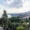 SICILY. TAORMINA. VIEW FROM TEATRO GRECO. GREEK THEATER.