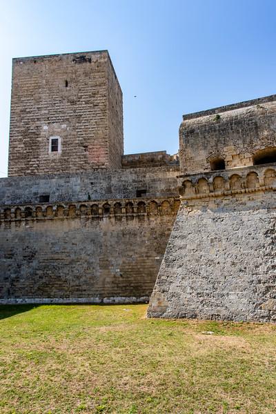 The Castello Svevo in Bari in Apulia, Italy - Europe